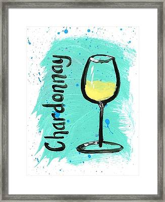 Chardonnay Splash Framed Print by Alyson Appleton