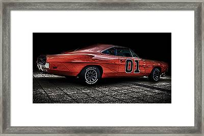 Charger Framed Print by Martin Newman