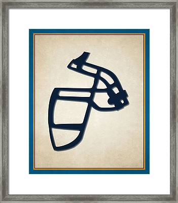 Chargers Face Mask Framed Print by Joe Hamilton