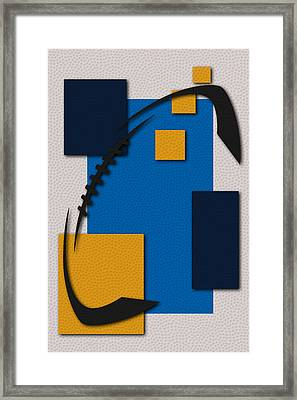 Chargers Football Art Framed Print by Joe Hamilton