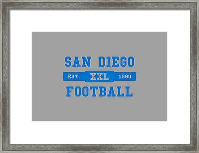 Chargers Retro Shirt Framed Print by Joe Hamilton