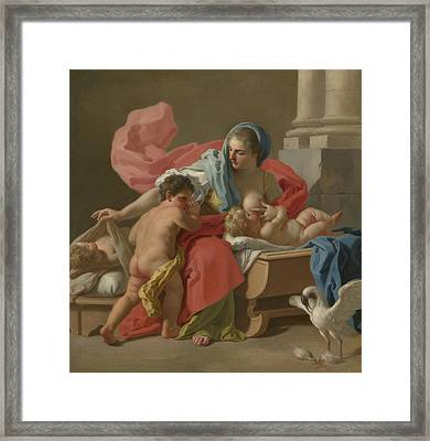 Charity Framed Print by Francesco de Mura
