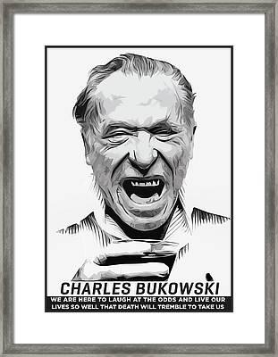 Charles Bukowski Framed Print by Semih Yurdabak