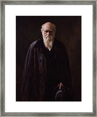 Charles Darwin - By John Collier Framed Print by War Is Hell Store