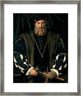 Charles De Solier Sieur De Morette  Framed Print by Hans Holbein the Younger