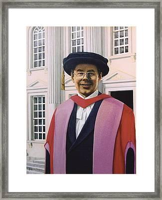 Charles Harpum Receiving Doctorate Of Law Framed Print by Richard Harpum
