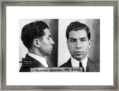 Charles Lucky Luciano Mug Shot 1931 Horizontal Framed Print by Tony Rubino