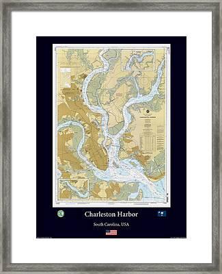 Charleston Harbor Framed Print by Adelaide Images