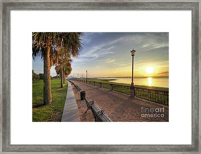 Charleston Sc Waterfront Park Sunrise  Framed Print by Dustin K Ryan