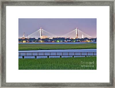 Charleston South Carolina Skyline Framed Print by Dustin K Ryan