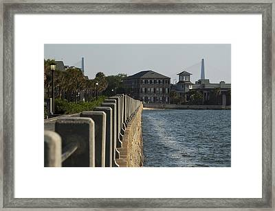 Charleston South Carolina Waterfront Battery Framed Print by Dustin K Ryan