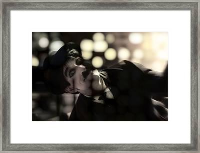 Charlie Chaplin  Framed Print by Damian Morphou