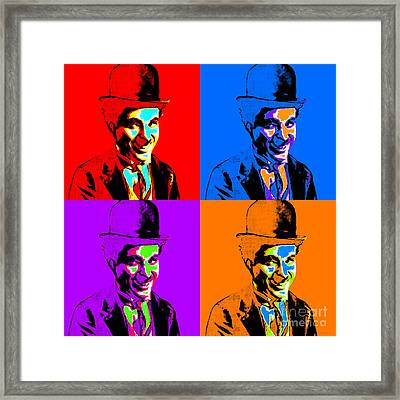 Charlie Chaplin Four 20130212 Framed Print by Wingsdomain Art and Photography