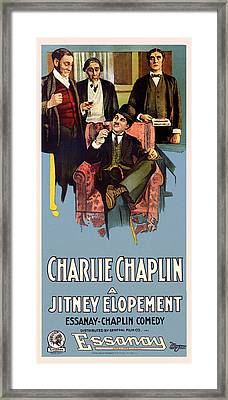 Charlie Chaplin In A Jitney Elopement 1915 Framed Print by Mountain Dreams