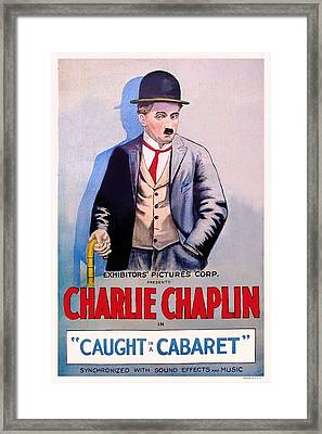 Charlie Chaplin In Caught In A Cabaret Framed Print by Mountain Dreams