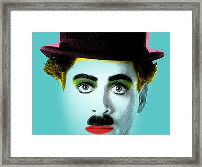 Charlie Chaplin Framed Print by Mark Ashkenazi