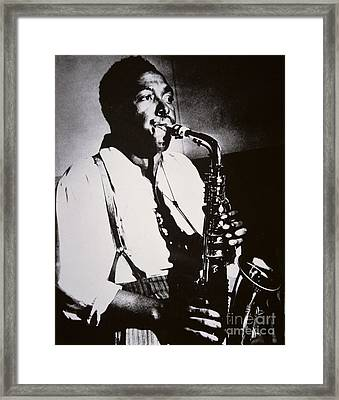 Charlie Parker Framed Print by American School