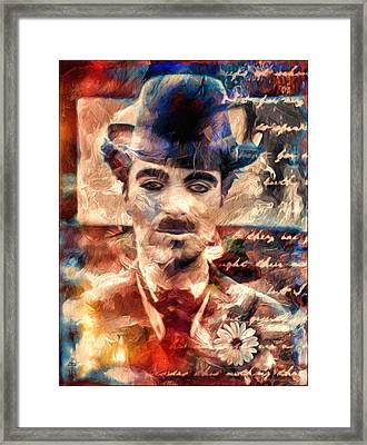 Charlot Colors And Poems  Framed Print by Daniel Arrhakis