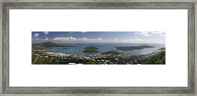 Charlotte Amalie From Above Framed Print by Gary Lobdell