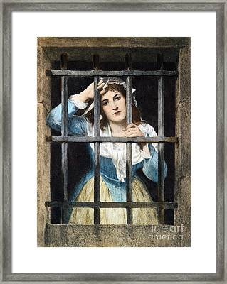 Charlotte Corday Framed Print by Granger