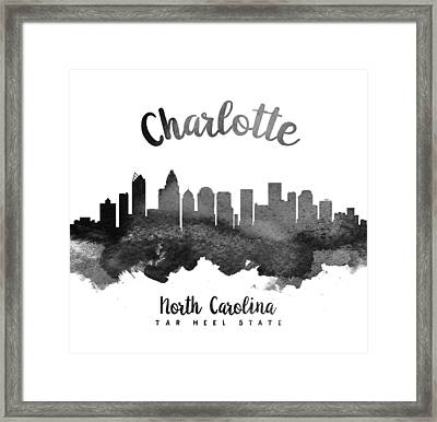 Charlotte North Carolina Skyline 18 Framed Print by Aged Pixel