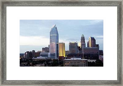 Charlotte Skyline Framed Print by Tim Mattox