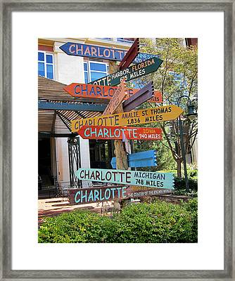 Charlotte Where Are You? Framed Print by Mary Lee Dereske
