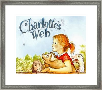 Charlottes Web Framed Print by Elizabeth Coats