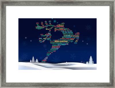Charming Reindeer Framed Print by Bedros Awak