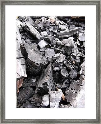 Charred Framed Print by Anna Villarreal Garbis