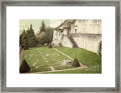 Chartres Labyrinth Garden Framed Print by Juli Scalzi