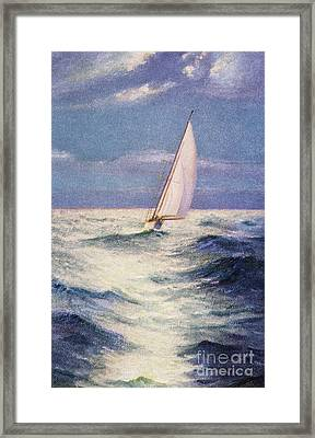 Chas Marer - Sailboat Framed Print by Hawaiian Legacy Archive - Printscapes