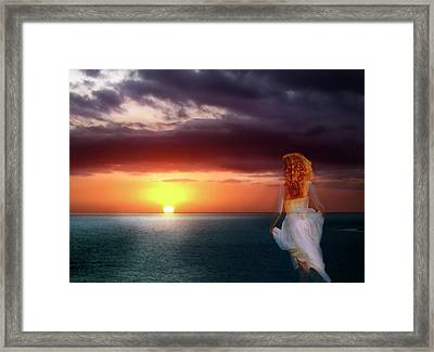 Chasing The Dream Framed Print by Robin Webster