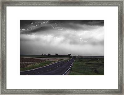 Chasing The Storm - Bw And Color Framed Print by James BO  Insogna
