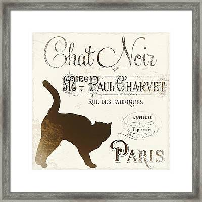 Chat Noir Paris Framed Print by Mindy Sommers