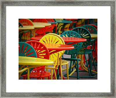 Chat Room Framed Print by Linda Mishler