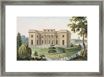 Chateau At Vinderhaute Framed Print by Pierre Jacques Goetghebuer