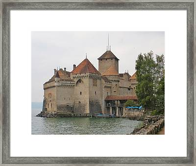 Chateau De Chillon Switzerland Framed Print by Marilyn Dunlap