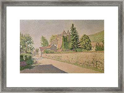 Chateau De Comblat Framed Print by Paul Signac