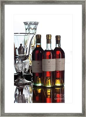 Chateau D'yquem, Vintage 1882, Sauternes Framed Print by French School