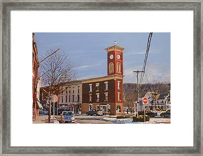 Chatham Clock Tower Framed Print by Kenneth Young
