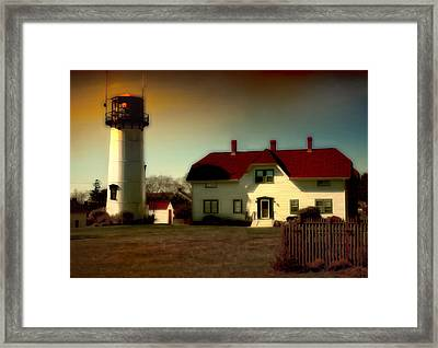 Chatham Lighhouse Framed Print by Gina Cormier