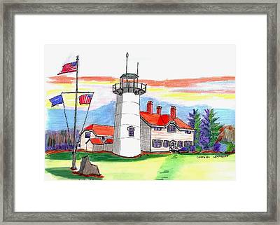 Chatham Lighthouse Framed Print by Paul Meinerth