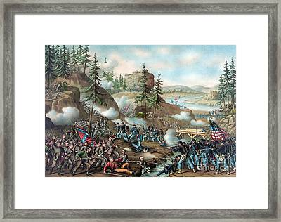 Chattanooga Campaign, Orchard Knob, 1863 Framed Print by Science Source