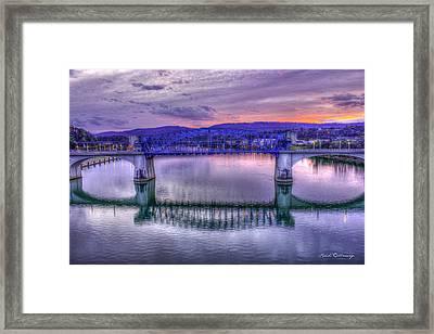 Chattanooga Reflections John Ross Bridge Historic Bridge Framed Print by Reid Callaway