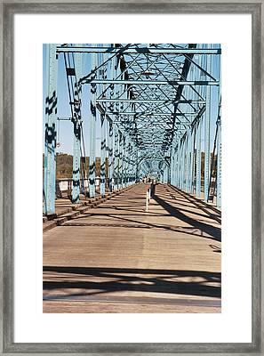 Chattanooga Walking Bridge Framed Print by Jake Hartz