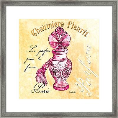 Chaumiere Fleurit Framed Print by Debbie DeWitt
