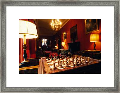 Check Mate At Dromoland Framed Print by Carl Purcell