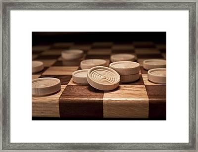 Checkers II Framed Print by Tom Mc Nemar