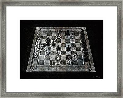 Checkmate In One Move Framed Print by Ramon Martinez